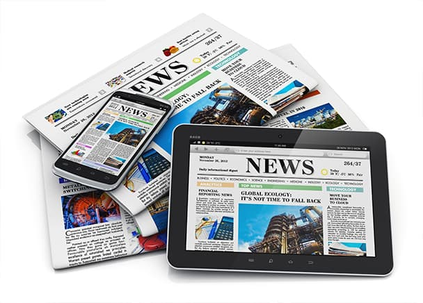 News across all devices and in newspaper form