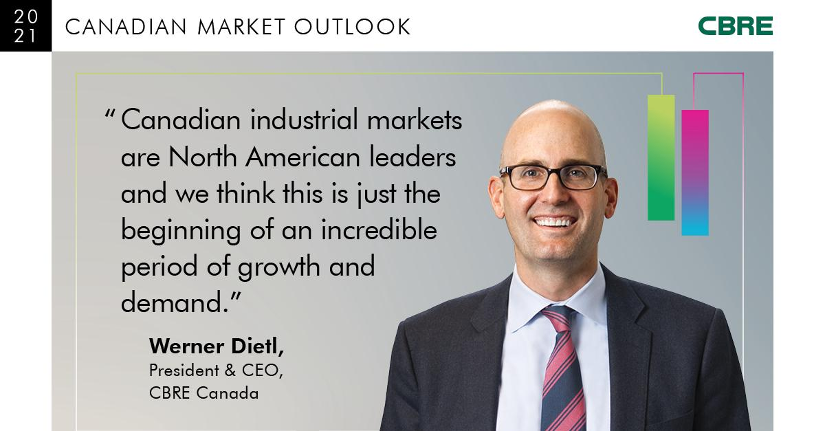 Canadian industrial markets are North American leaders and we think this is just the beginning of an incredible period of growth and demand. - Werner Dietl